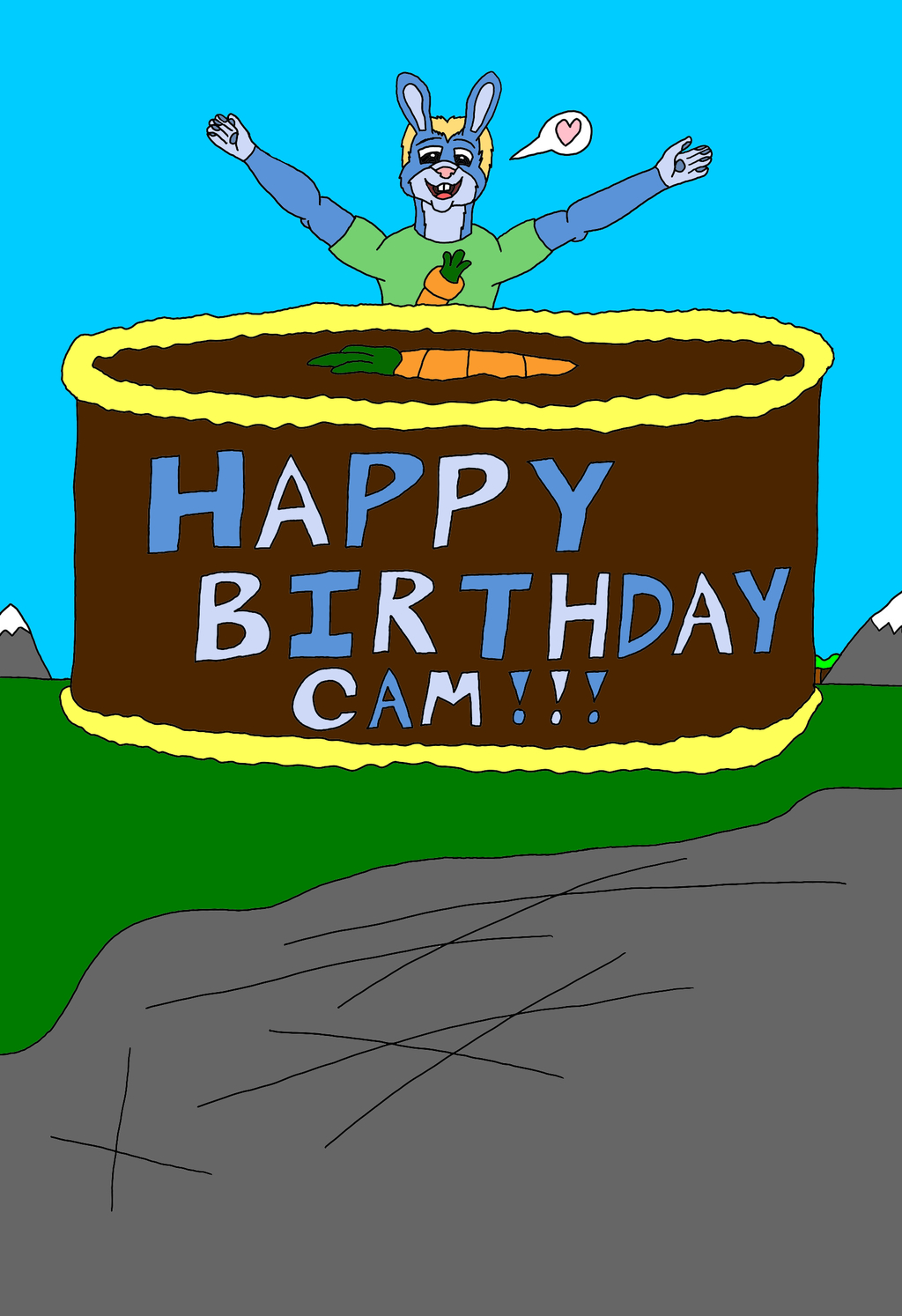 Big Birthday Carrot Cake