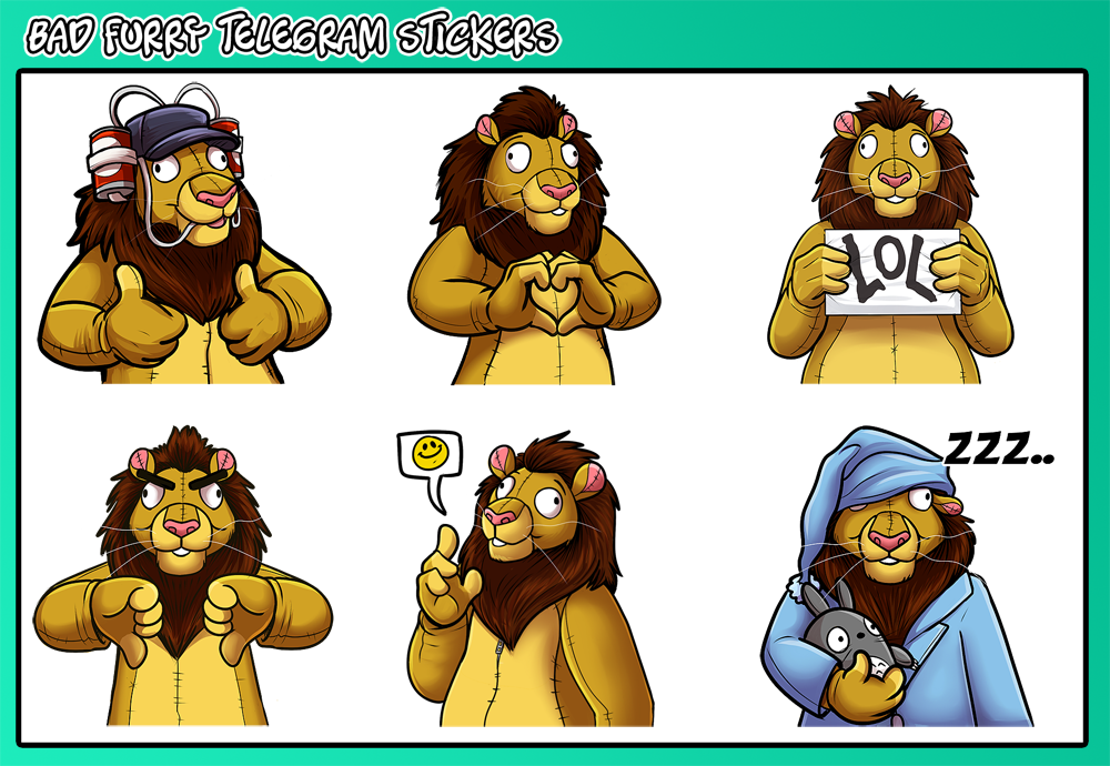 Telegram furry sticker channel