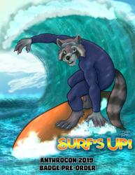 Anthrocon 2019 Surfing Safari Badge Pre-Order