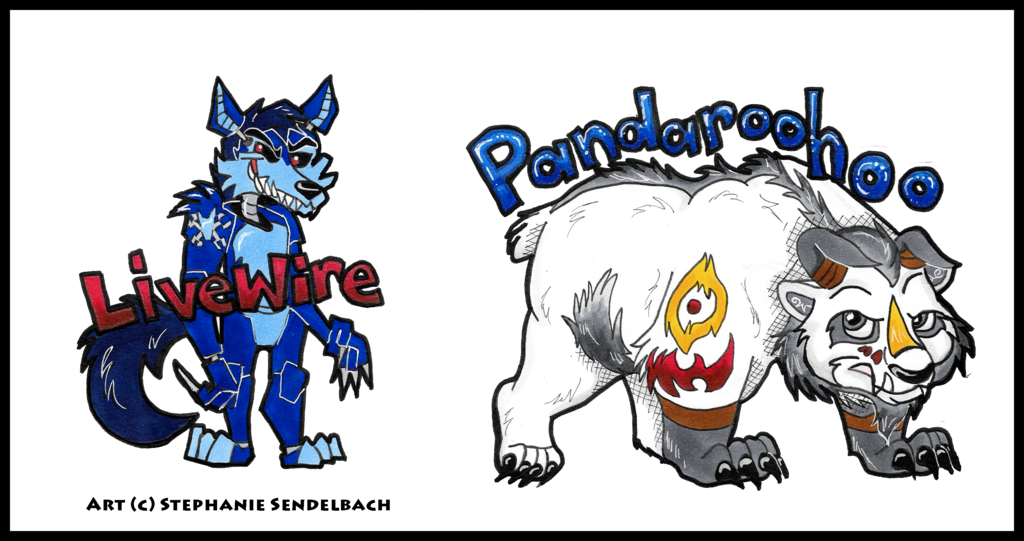 Livewire and Pandaroohoo Badges