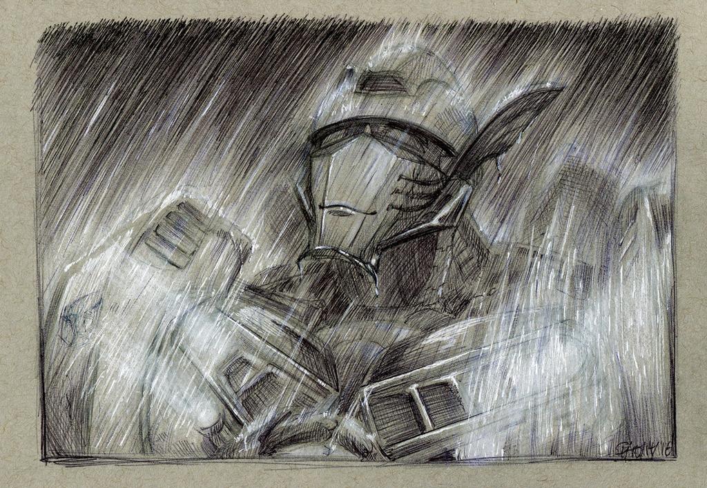 Inktober #14: Joyful Downpour