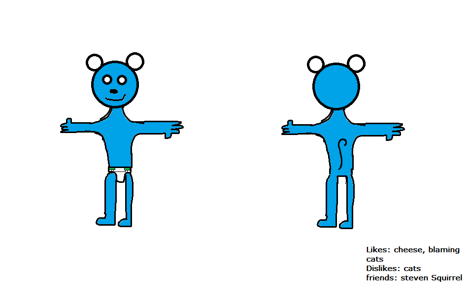 Blue mouse (ref sheet)