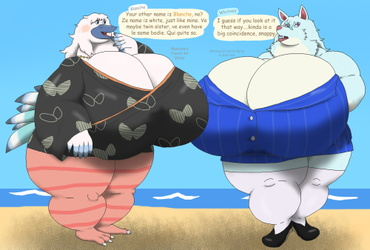 T H I C K Animal Crossing: Blanche and Whitney
