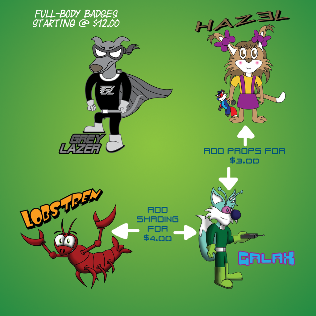 Full-Body Badge Examples