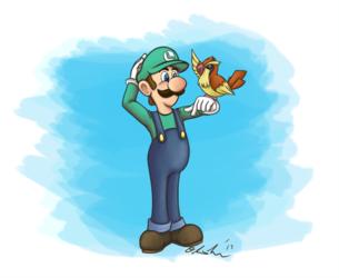 Kiriban: Luigi and Pidgey