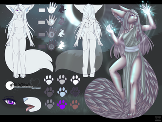 Commission: Akari reference sheet clothed