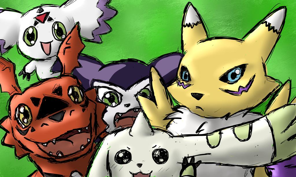 Digimon Tamers - sketch