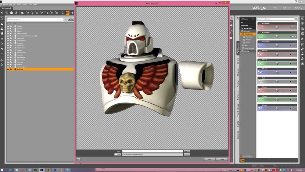 The White Mantids Progress more armor bits