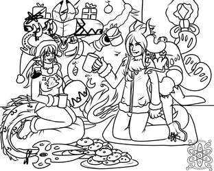 Holiday party +Commission WIP+
