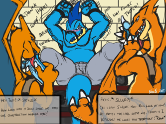 The Tickle and Footy Fetish of Business Feraligatr