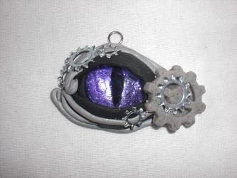 Steampunk Dragon Eye Pendant