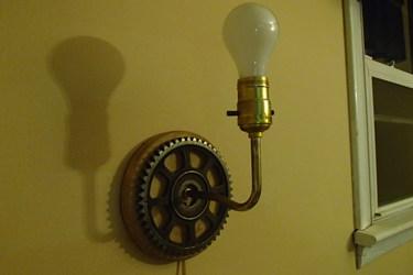 gear wall lamp