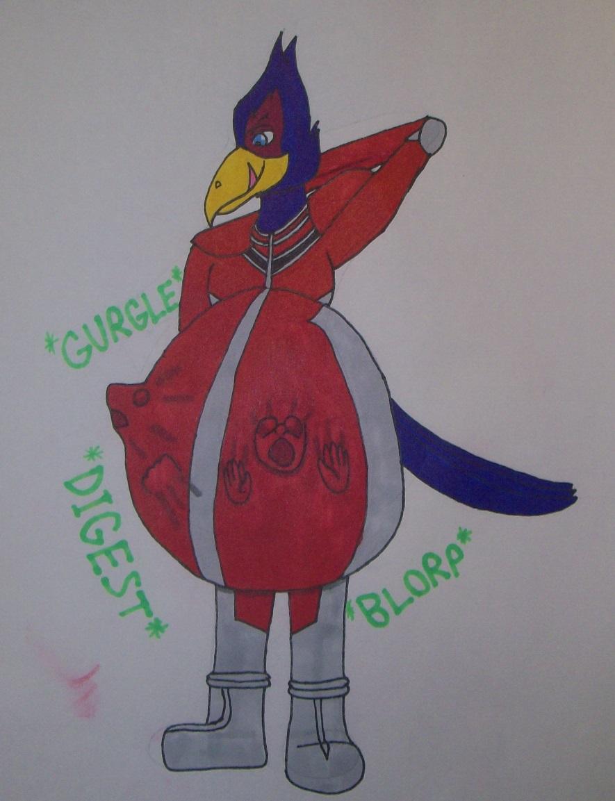Falco Swallowed Fox and Krystal