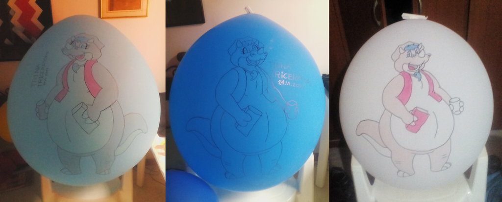 Trina Triceratops Balloons
