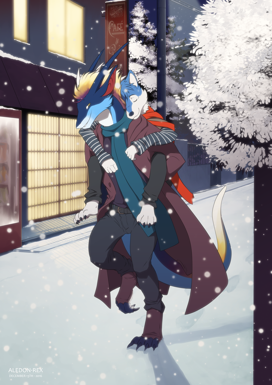Winter Piggyback