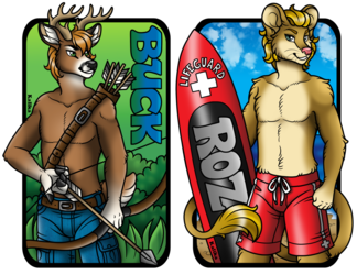 Conbadges - Buck and Roz