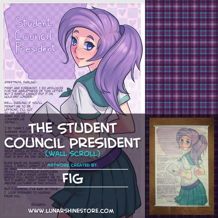 i look forward to hearing from you cover letter%0A Student Council President Wall Scroll by Fig