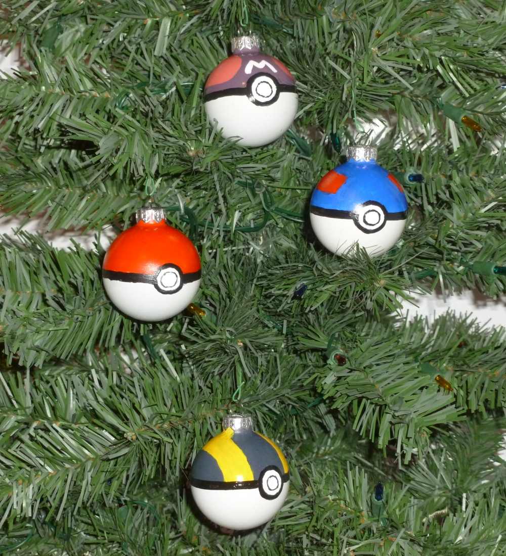 Pokeball Christmas Bulbs