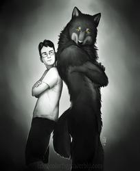 Shaded Sketch: Vex the Werewolf