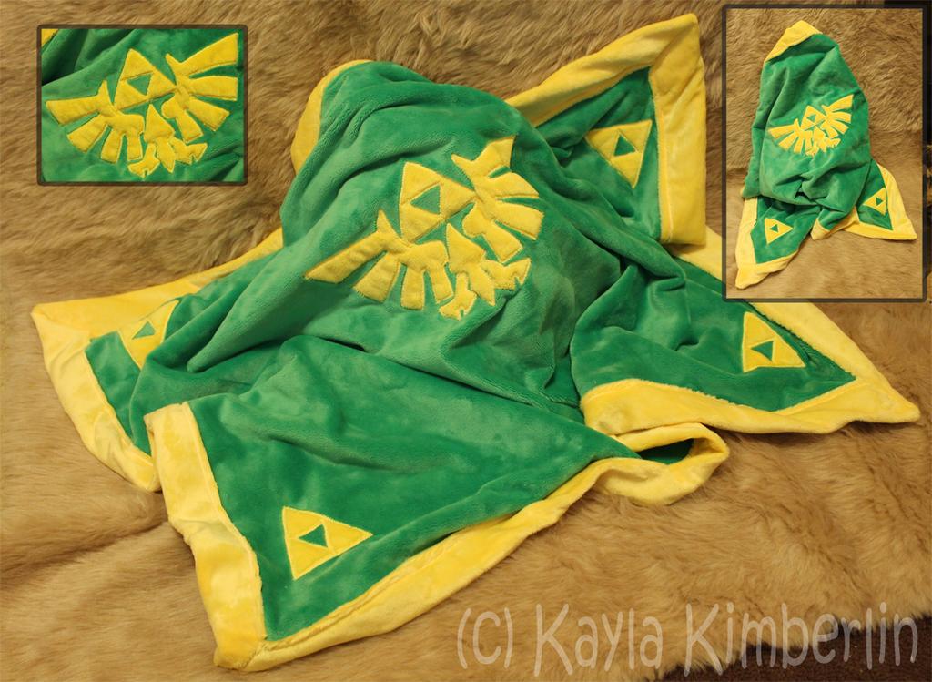 Handmade Zelda baby blanket