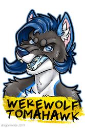 Werewolf Tomahawk Badge