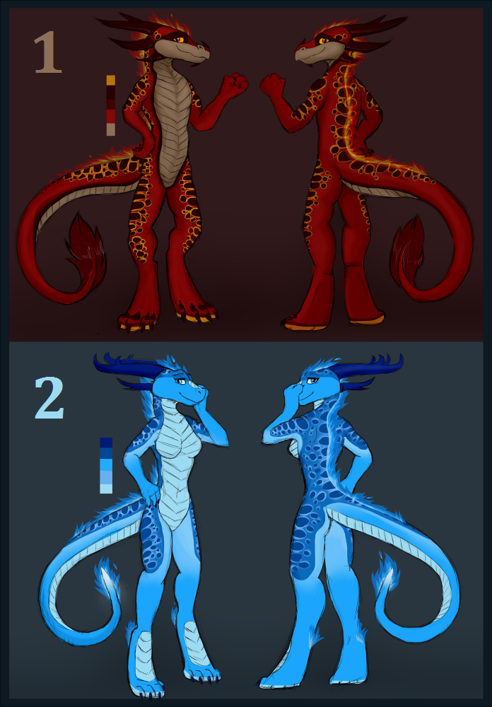 Eastern Fire Dragon Designs [Sold]