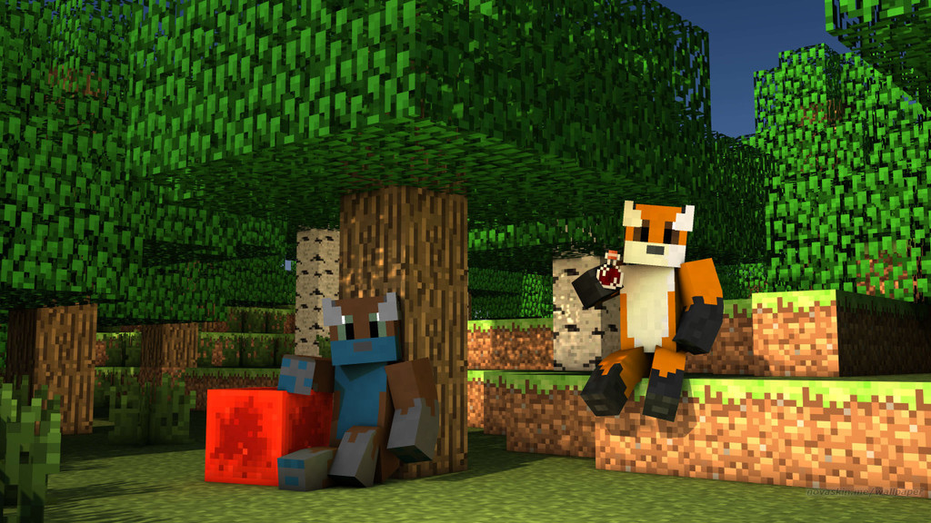 Most recent image: Minecraft Foxes