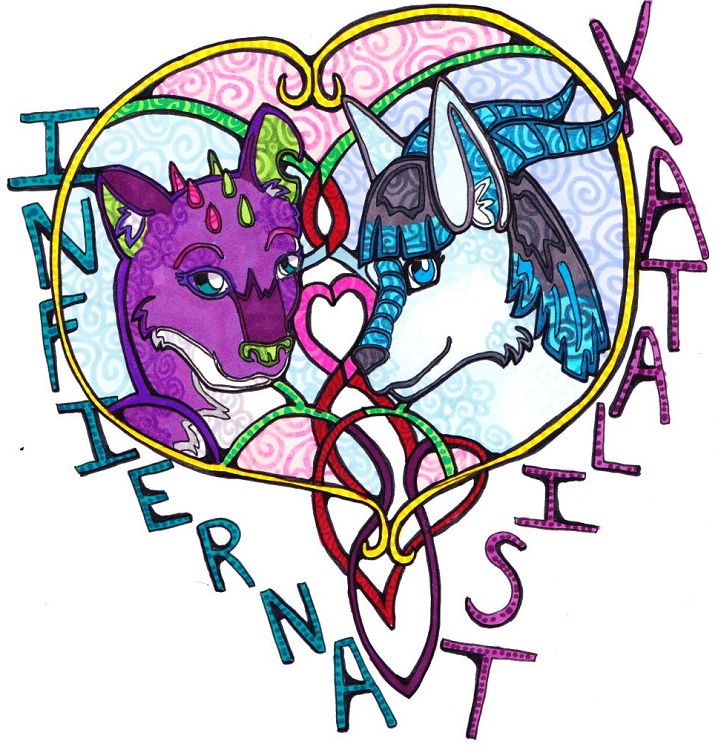 Stained Glass Style Badge by talakestreal