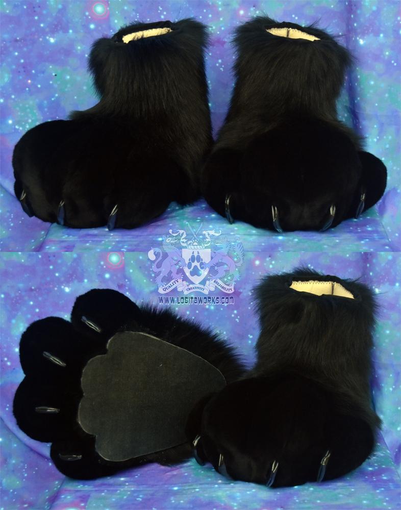 Black Fursuit Feet