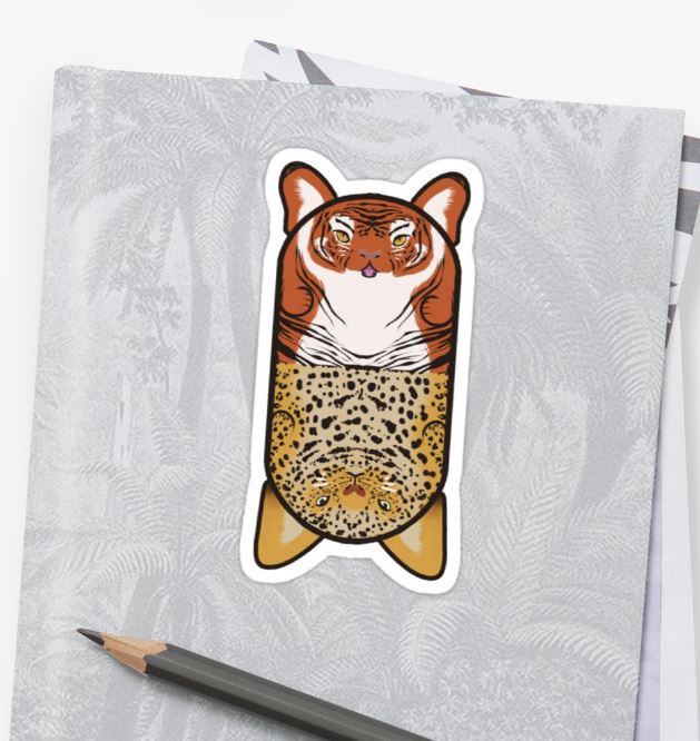Redbubble: Stripy and Spotty. Tiger and Leopard.