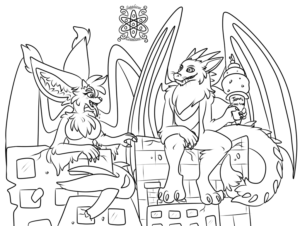 Monstrous Lounging +Commission WIP+