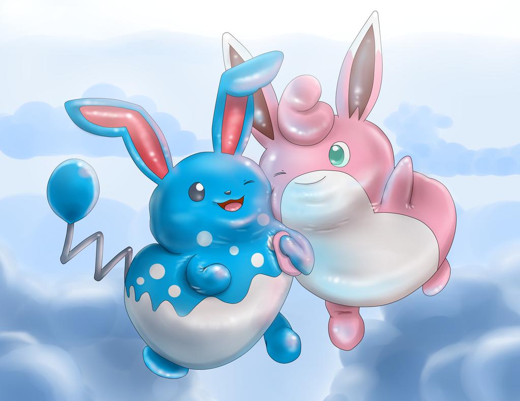 Balloon Bunnies (Azumarill and Wigglytuff)