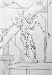 Sketch--Glaive Making Some Adjustments