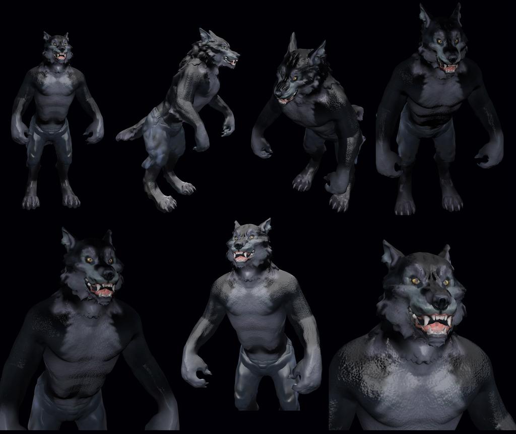 Most recent image: Werewolf sculpture