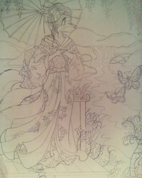 Butterfly Of Nagasaki-Sketch