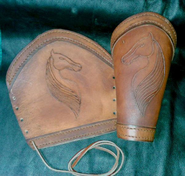 Rohan leather bracers