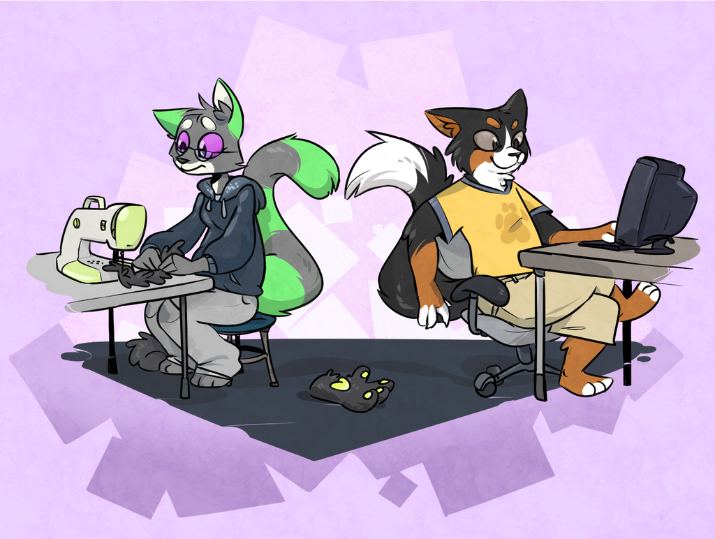 Commission: Work And Play