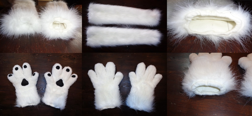 Part- Suit (Handpaw's + Arm warmers) 2/4