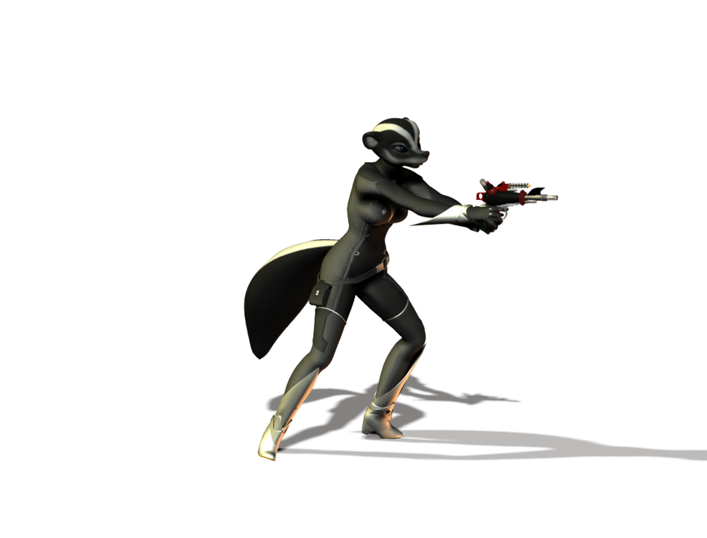 Skunk Superheroine Scrap