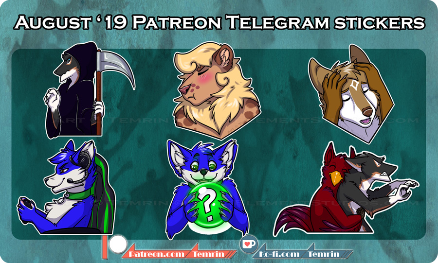 PTR - August Telegram Stickers
