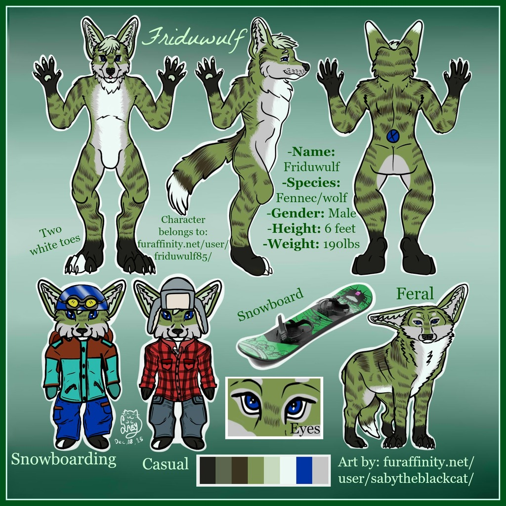Complex Reference Sheet Commission for Friduwulf85