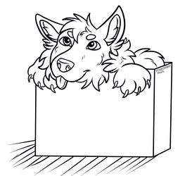 Husky In A Box PWYW ($1) Lineart