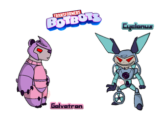BotBots: Galvatron and Cyclonus