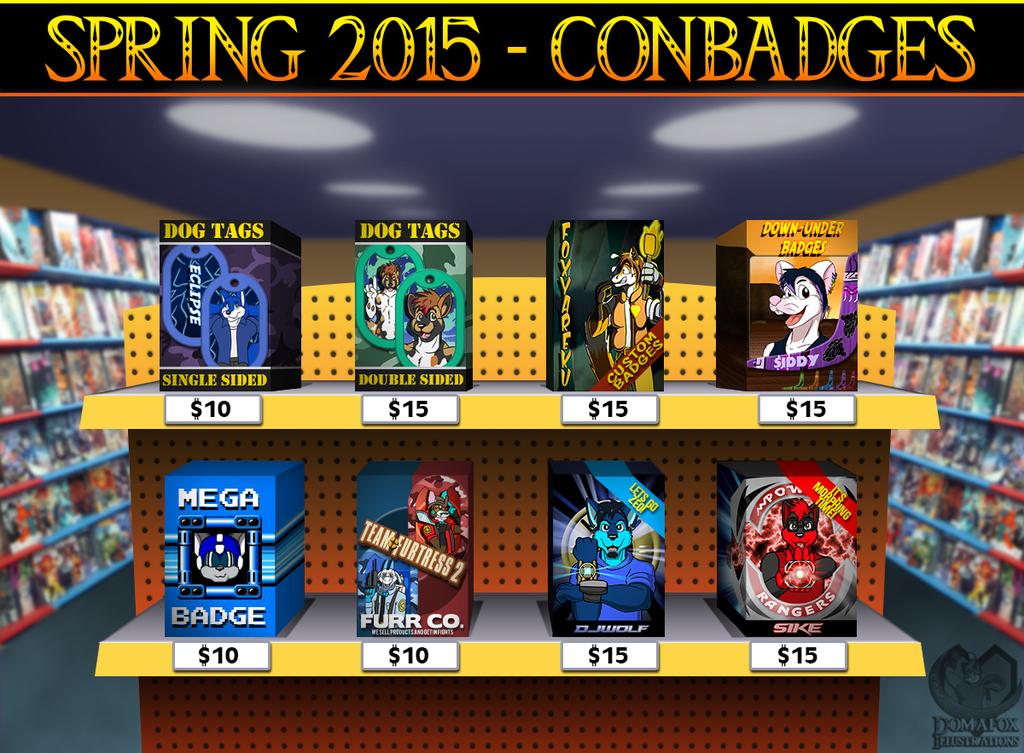 SPRING 2015 CONBADGES - OPENED