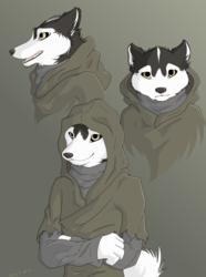 Mysterious hooded Evo girl