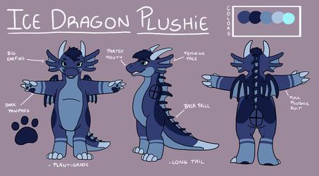 [COM] Ice Dragon Plush Fursuit Design