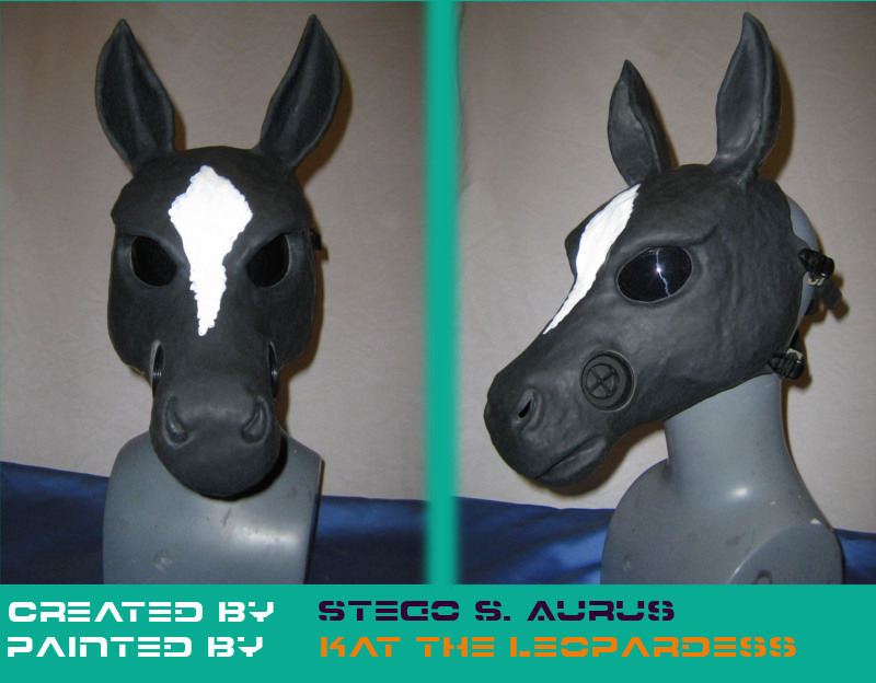 Painted Gas Mask: Horse Design