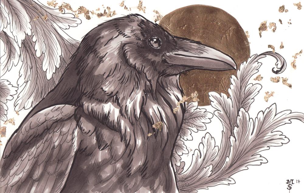 Raven (inktober 2017 - sold)