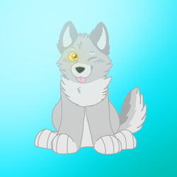 I have paint tool sai now! (Cute wolf)