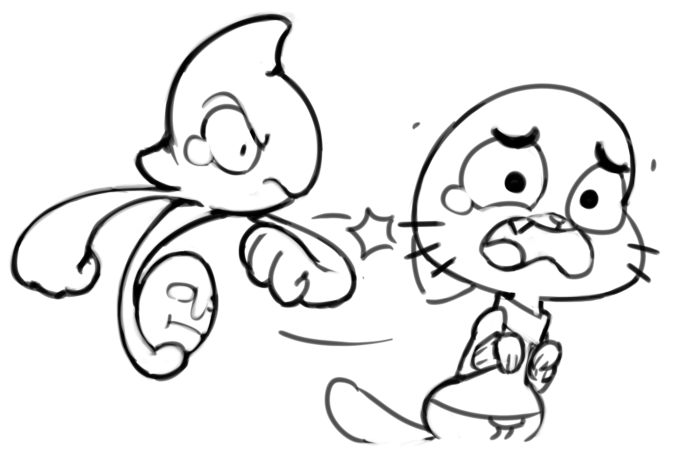 Yamask punches Gumball